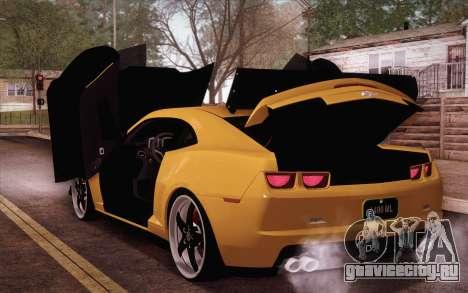 Chevrolet Camaro ZL1 для GTA San Andreas вид сзади