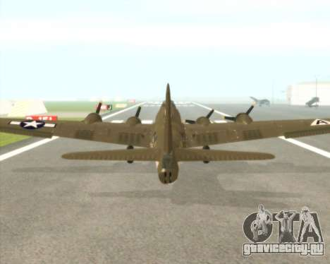 B-17G для GTA San Andreas вид сзади