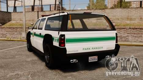GTA V Declasse Granger Park Ranger для GTA 4 вид сзади слева