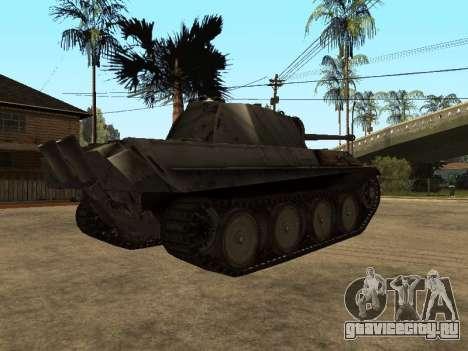 Pzkfpw V Panther для GTA San Andreas вид сзади
