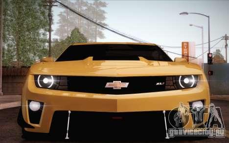 Chevrolet Camaro ZL1 для GTA San Andreas салон