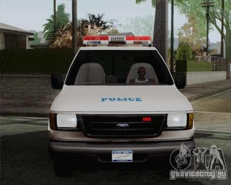 Ford F150 Police для GTA San Andreas вид сзади слева