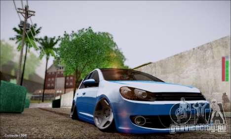 Volkswagen mk6 Stance Work для GTA San Andreas вид слева