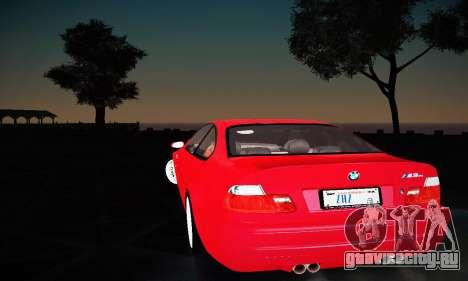 BMW E46 M3 CSL для GTA San Andreas вид справа