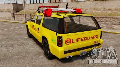 GTA V Declasse Granger 3500LX Lifeguard для GTA 4 вид сзади слева