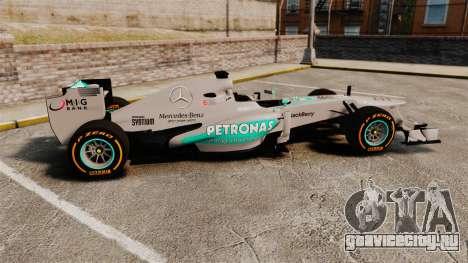 Mercedes AMG F1 W04 v3 для GTA 4 вид слева