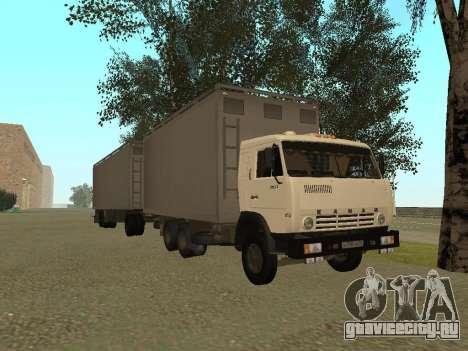 Прицеп для КамАЗа 54115 для GTA San Andreas вид справа