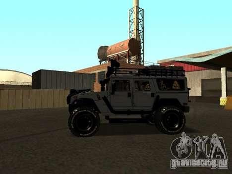 Hummer H1 Offroad для GTA San Andreas вид слева