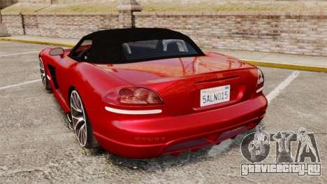 Dodge Viper SRT-10 2003 для GTA 4 вид сзади слева