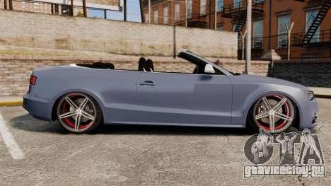 Audi S5 Convertible 2012 для GTA 4 вид слева