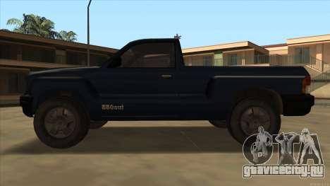 Bobcat HD from GTA 3 для GTA San Andreas вид сзади слева