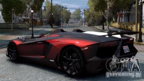 Lamborghini Aventador J 2012 Carbon для GTA 4 вид справа