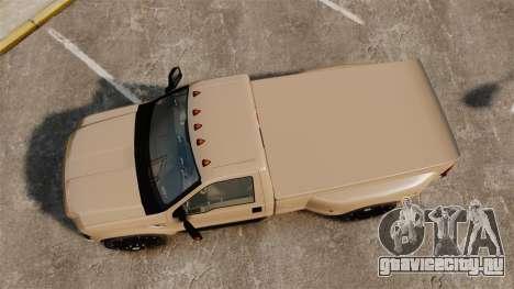 Ford F-350 Pitbull для GTA 4 вид справа
