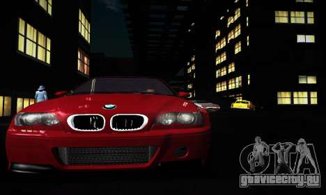 BMW E46 M3 CSL для GTA San Andreas вид слева