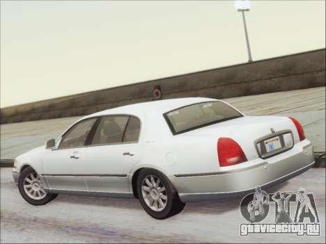 Lincoln Town Car 2010 для GTA San Andreas вид сзади