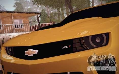 Chevrolet Camaro ZL1 для GTA San Andreas вид сбоку