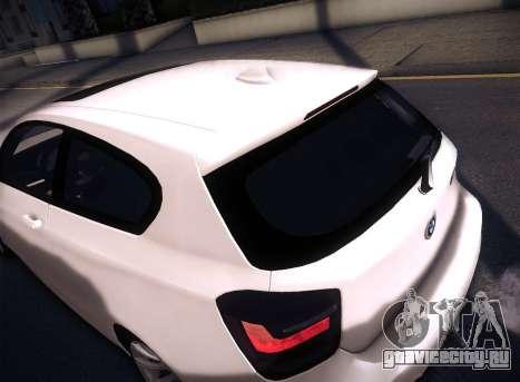 BMW M135i для GTA San Andreas вид изнутри