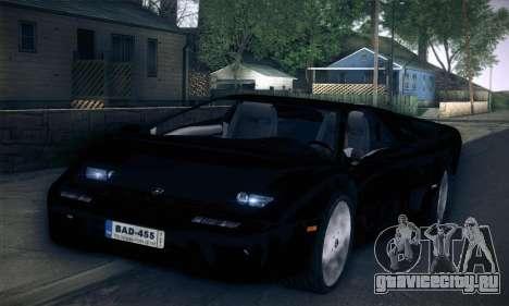 Lamborghini Diablo VT6.0 для GTA San Andreas вид справа