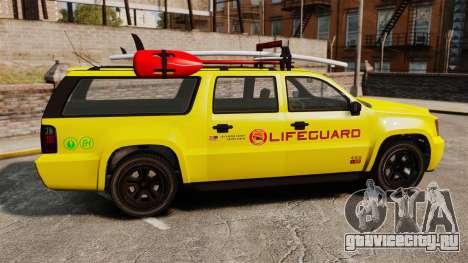 GTA V Declasse Granger 3500LX Lifeguard для GTA 4 вид слева