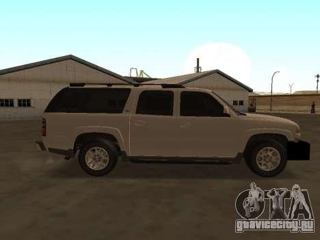 Chevrolet Suburban ATTF для GTA San Andreas вид сзади