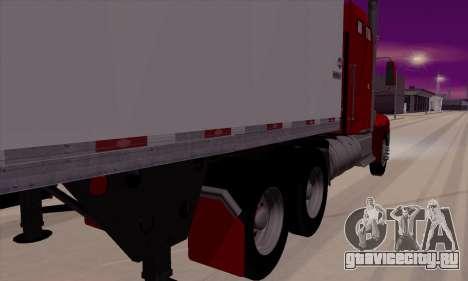 International 9400i Flattop для GTA San Andreas вид сзади слева
