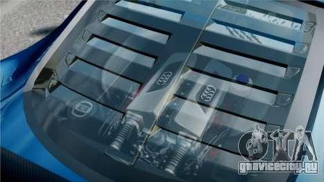 Audi R8 LMS для GTA 4 вид сверху