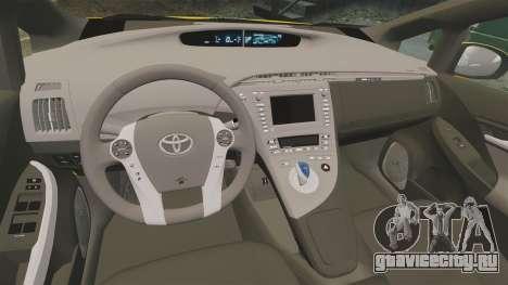 Toyota Prius 2011 Warsaw Taxi v2 для GTA 4 вид сбоку