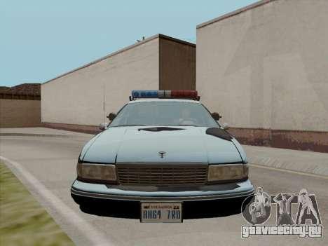 Chevrolet Caprice LAPD 1991 для GTA San Andreas вид слева