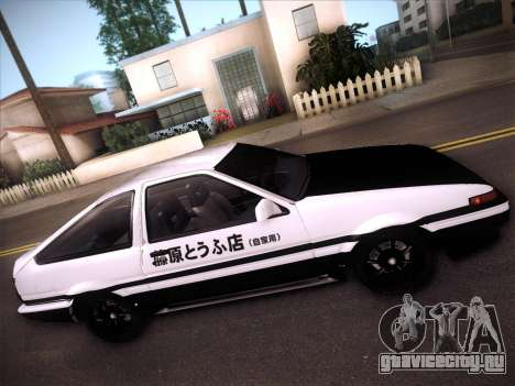 Toyota Trueno AE86 Initial D 4th Stage для GTA San Andreas вид изнутри