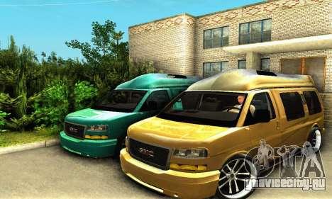 GMC Savana для GTA San Andreas вид изнутри