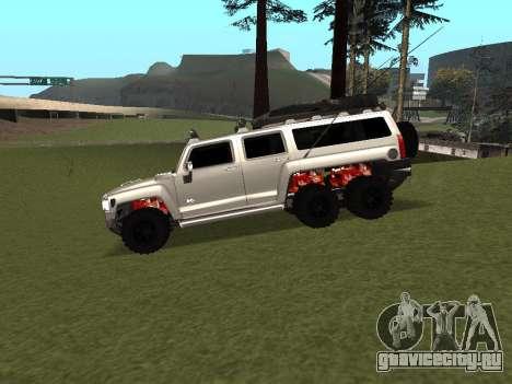 Hummer H3 6x6 для GTA San Andreas вид слева
