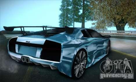 Lamborghini Murcielago GT Coloured для GTA San Andreas вид слева