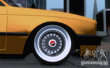 BMW E30 325i для GTA San Andreas вид сзади слева