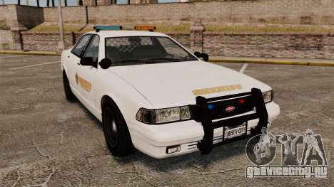 GTA V Police Vapid Cruiser Sheriff для GTA 4
