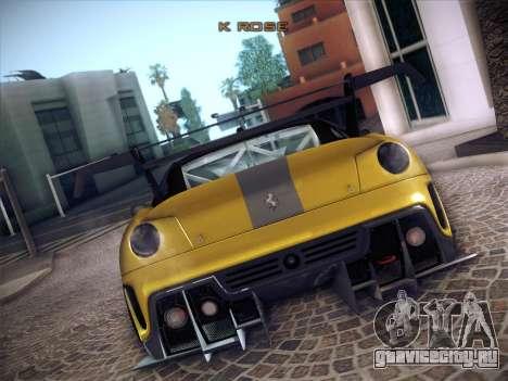 Ferrari 599XX 2012 для GTA San Andreas вид сверху