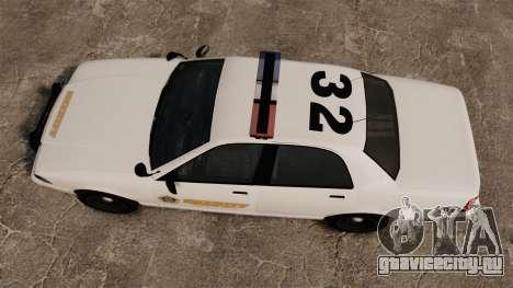 GTA V Police Vapid Cruiser Sheriff для GTA 4 вид справа