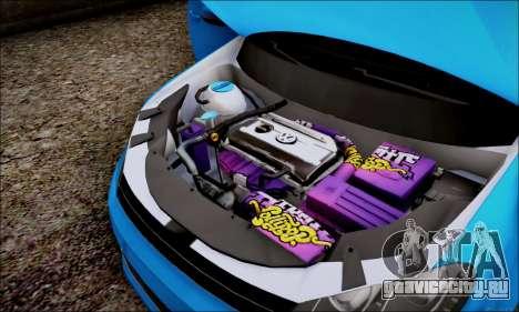Volkswagen mk6 Stance Work для GTA San Andreas вид сзади