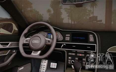 Audi RS6 Police для GTA San Andreas вид справа