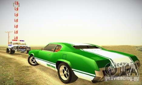 GTA IV Sabre Turbo для GTA San Andreas вид справа