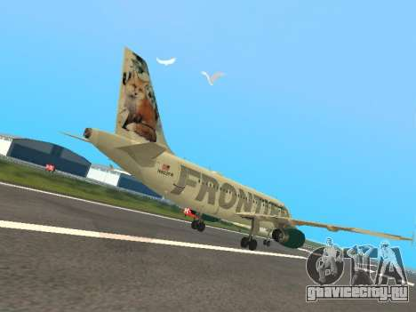 Airbus A319-111 Frontier Airlines Red Foxy для GTA San Andreas вид справа