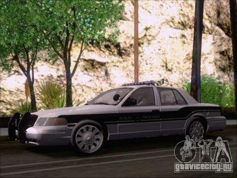 Ford Crown Victoria San Andreas State Trooper для GTA San Andreas вид изнутри