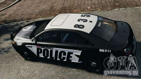 Ford Taurus Police Interceptor 2010 для GTA 4 вид справа
