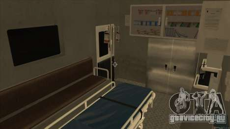 Ambulance HD from GTA 3 для GTA San Andreas вид изнутри