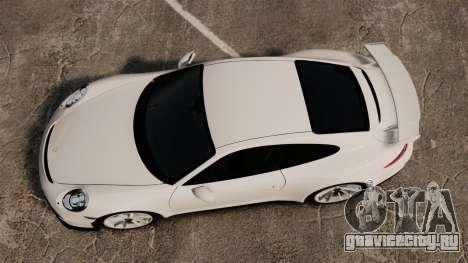 Porsche 911 GT3 (991) 2013 для GTA 4 вид справа