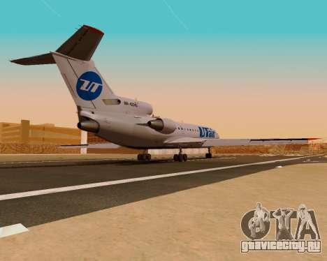 Як-42Д UTair для GTA San Andreas вид слева