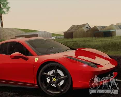 Ferrari 458 Italia 2010 для GTA San Andreas