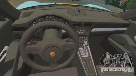 Porsche 911 Turbo 2014 [EPM] Gulf для GTA 4 вид сзади