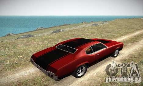 GTA IV Sabre Turbo для GTA San Andreas вид сбоку