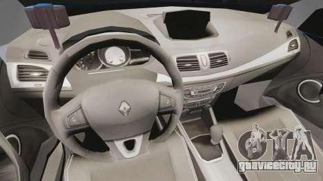 Renault Megane RS Gendarmerie Nationale [ELS] для GTA 4 вид сзади