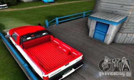 Dodge Ram 2500 для GTA San Andreas вид сзади слева